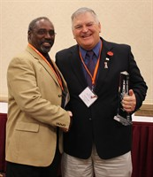 Pass Christian Board President Randall Dewitt and new MSBA Vice President James Stubbs
